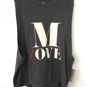 NWT. Free People Sleeveless Graphic Tank.